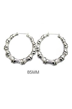 Buy Womens Urban Chic Ghetto Fabulous Bamboo Hoops Earrings - Silver - and Find Large Selection of Designer Jewelry at Best Prices Turquoise Jewelry, Gold Jewelry, Women Jewelry, Jewellery, Bamboo Hoop Earrings, Silver Hoop Earrings, Sterling Silver Cross Pendant, Sterling Jewelry, Ghetto Fabulous