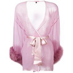 Gilda & Pearl 'Diana' kimono ($430) ❤ liked on Polyvore featuring intimates, robes, kimono robe and rose kimono