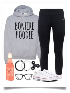 """Bonfire Outfit!"" by bekah-04 ❤ liked on Polyvore featuring NIKE, Converse, Lokai and Ray-Ban"