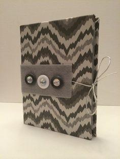 Grey Zig Zag Pattern Earring Organizer/Book for Travel or Storage 5x7x1 on Etsy, $15.00