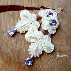 Jewelry Quotes, Soutache Earrings, Earring Tutorial, Selling Jewelry, Polish Girls, Shibori, Belly Button Rings, Swarovski, Fashion Jewelry