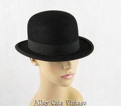 Vintage 20th Century Men's Bowler Derby Hat from Markey's by Frank Schoble & Co