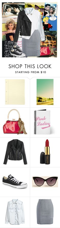 """Back to school cool"" by fashionistajane1 ❤ liked on Polyvore featuring Chicnova Fashion, MAC Cosmetics, Converse, A.J. Morgan, H&M and Athleta"