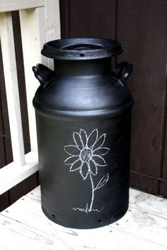 Painted Milk Cans on Pinterest
