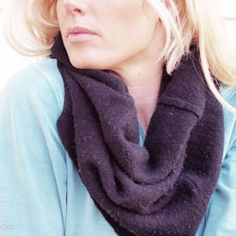 How to repurpose an old sweater into a stylish, chunky, cozy cowl scarf for winter