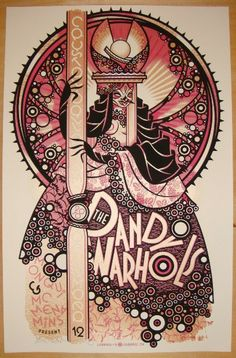 The Dandy Warhols w/ Monqui & McMenamins - silkscreen concert poster (click image for more detail) Artist: Guy Burwell Venue: Crystal Ballroom Location: Portland, OR Concert Date: 12/12/2010 Edition:
