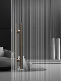 Moderne doppelseitige Glastür Madras® Strip Maté, the new double-sided glass from Vitrealspecchi Home Door Design, Verre Design, Interior Architecture, Interior Design, Home Living, Office Interiors, Metal Walls, Glass Panels, Windows And Doors