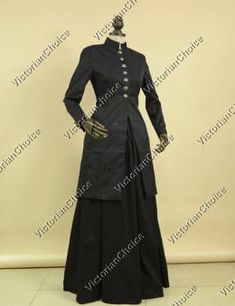 High Quality Victorian Edwardian Penny Dreadful Ladies Frock Coat Dress Theater Costume C035B