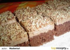 Pařížské řezy jednoduché recept - TopRecepty.cz Baking Recipes, Cake Recipes, Dessert Recipes, Czech Desserts, Czech Recipes, Sweets Cake, Mini Cheesecakes, Healthy Diet Recipes, No Bake Cake