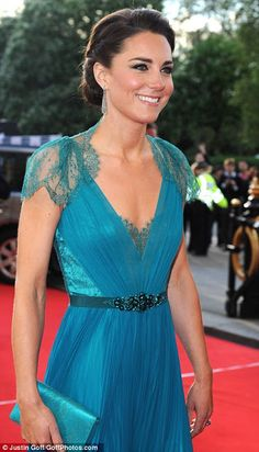Kate Middleton in Turquoise Dress