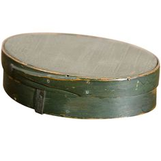 Green Oval Bentwood Pantry Box