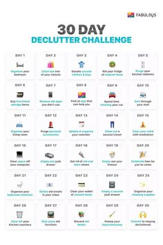 declutter challenge- sadly some of these single day activities would each. declutter challenge- sadly some of these single day activities would each take me 30 days to House Cleaning Tips, Spring Cleaning, Cleaning Hacks, Deep Cleaning Lists, Daily Cleaning, Cleaning Checklist, Diy Hacks, Squat Challenge, 30 Day Challenge