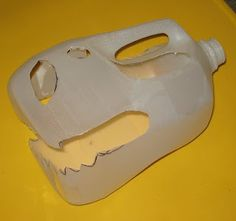 make a t rex skull from a milk jug. My kids would go nuts if we did this then buried it and they got to dig for dinosaurs...