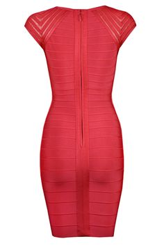 Cheap Herve Leger Sexy Short Cocktail Red Dresses