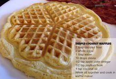 simple coconut waffle recipe #grainfree #paleo #fitfluential