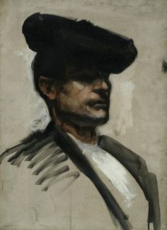 Head of a Spanish Musician, 1880, John Singer Sargent
