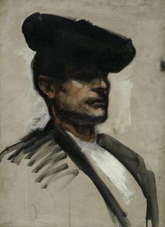 Head of a Spanish Musician, 1880, John Singer Sargent