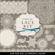 New Freebies Lace Kit:Far Far Hill - Free database of digital illustrations and…