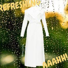 Stylish Raincoats, Rain Fashion, Love To Shop, Fashion Styles, Sustainable Fashion, White Dress, Fancy, Formal Dresses, How To Wear