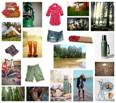 Camping Engagement Session Concept Board