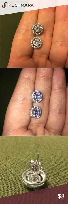 New Crystal Earrings Never worn! Crystal earrings Comes with backings Jewelry Earrings