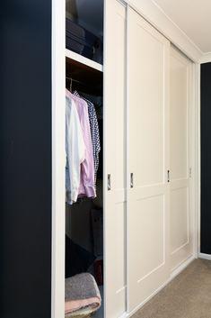 My game-changing new wardrobe doors! - The Interiors Addict Diy Built In Wardrobes, Diy Fitted Wardrobes, Modular Wardrobes, Build A Wardrobe, Small Wardrobe, Bedroom Wardrobe, Wardrobe Closet, Wardrobe Ideas, Sliding Door Wardrobe Designs