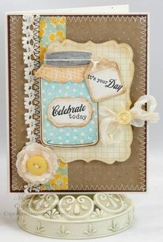 SC295, Brown Paper Bag Friendship card by Westies - Cards and Paper Crafts at Splitcoaststampers