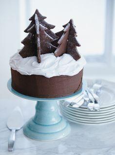 Gâteau au chocolat de Noël et biscuits sapin en trois dimensions / Christmas Cake // ricardo cuisine