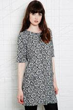 Cooperative Pleated Dress in Daisy Print at Urban Outfitters