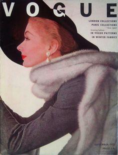 Vogue cover -- September, 1951 by Irving Penn
