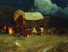 'The Pioneers' by Frank Tenney Johnson