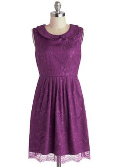 Feeding the Doves Dress in Plum. This item is a new colorway of one of your favorite Be the Buyer picks! #purple #modcloth