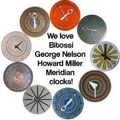 We're building an archive of the designs for George Nelson's Meridian clocks -- and we have nearly a dozen already! Check them out!