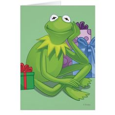 Holiday Kermit 3 Card