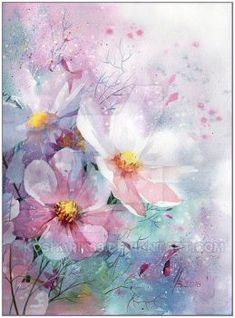 40 Simple Watercolor Paintings Ideas for Beginners to Copy Watercolor Paintings For Beginners, Beginner Painting, Easy Watercolor, Watercolor Cards, Watercolour Painting, Watercolor Flowers, Watercolors, Abstract Flowers, Flower Art
