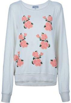 Wildfox rose sweatshirt on shopstyle.com
