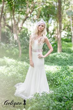 Our Lilly-Ann dress that is transformed into a beautiful Wedding dress. Tight Full Lace with a Mermaid Tulle Skirt.