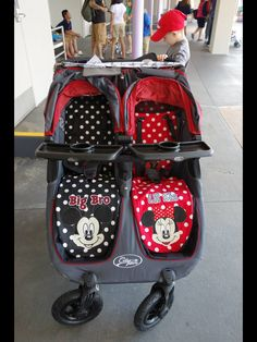 Hand made by my mom ❤️ her skills.  Disney Mickey and Minnie Mouse stroller liners.  So many compliments on these I had to share. :)