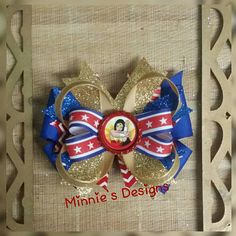 Wonder Woman Hair Bows with Alligator Clips
