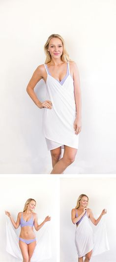 The best beach cover-up! So brilliant, simple, and Made in the USA by Swoon Swimwear!