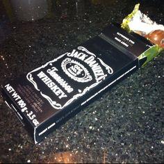 Jack Daniels with swiss milk chocolate