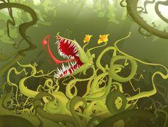 Carnivorous plant by DoudzMat