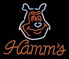 Breweriana neon sign, Hamm's w/bear mascot, Exc working : Lot 675