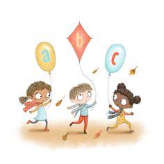 Having fun learning their ABCs - children's illustration by Emma Allen Emma Allen, Fun Illustration, Fun Learning, Have Fun, Teddy Bear, Abcs, Children, Illustrator, Crafts
