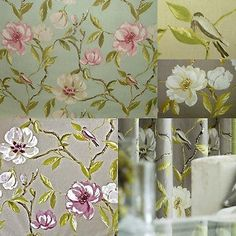 Prestigious Chinoise Floral Designer 100% Cotton Curtain Upholstery Fabric
