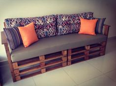 Pallet Sofa - 30 DIY Pallet Ideas for Your Home | 101 Pallet Ideas - Part 2