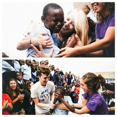 Baptizing kids in Africa in a blow up pool. The videos are incredible. <3