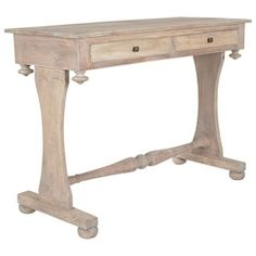 DANISH TWO DRAWERS CONSOLE TABLE