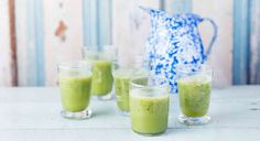 A Cucumber-Mint Smoothie to Detoxify and Reset Your System www.theteelieblog.com Fresh cucumbers, mint leaves, and tart green apple make for a refreshing, digestion-boosting combination. It's the perfect drink for hitting the reset button after a big holiday meal. #thrivemarket
