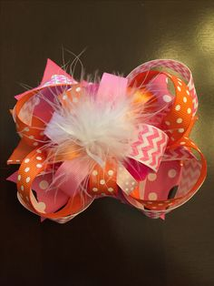 """Orange & Pink """"burst"""" Boutique style now 🎀 fit for a southern diva!"""